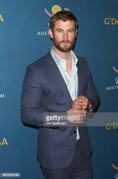 Actor Chris Hemsworth attends a virtual tour of Australia at Hudson Mercantile on January 23 2017 in New York City