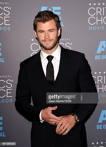 Actor Chris Hemsworth attends the 20th annual Critics' Choice Movie Awards at the Hollywood Palladium on January 15 2015 in Los Angeles California