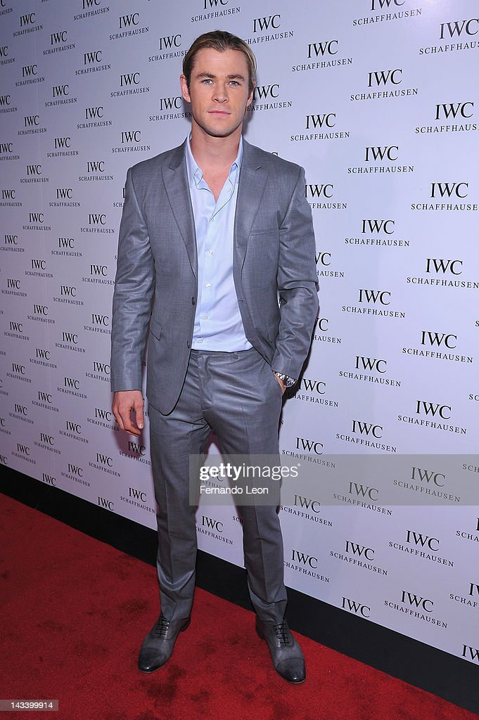 Actor <a gi-track='captionPersonalityLinkClicked' href=/galleries/search?phrase=Chris+Hemsworth&family=editorial&specificpeople=646776 ng-click='$event.stopPropagation()'>Chris Hemsworth</a> attends the IWC Flagship Boutique New York City Grand Opening at IWC Boutique on April 25, 2012 in New York City.