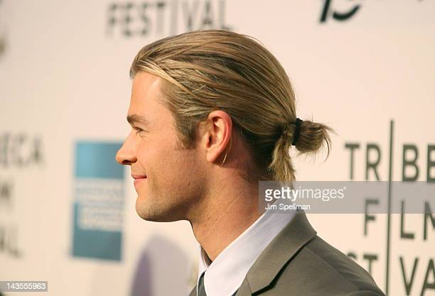 Actor Chris Hemsworth attends the 'Marvel's The Avengers' premiere during the closing night of the 2012 Tribeca Film Festival at BMCC Tribeca PAC on...