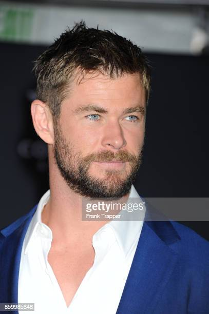Actor Chris Hemsworth attends the premiere of Disney and Marvel's 'Thor Ragnarok' on October 10 2017 at the El Capitan Theater in Hollywood California