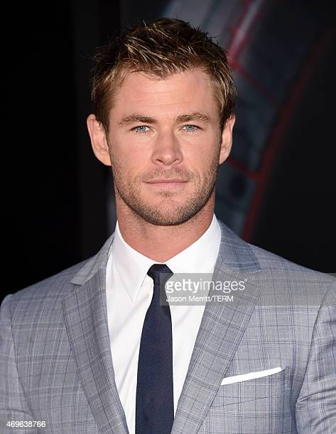 Actor Chris Hemsworth attends the premiere of Marvel's 'Avengers Age Of Ultron' at Dolby Theatre on April 13 2015 in Hollywood California