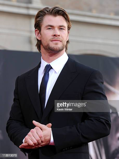 Actor Chris Hemsworth attends the premiere of Paramount Pictures' and Marvel's 'Thor' held at the El Capitan Theatre on May 2 2011 in Los Angeles...