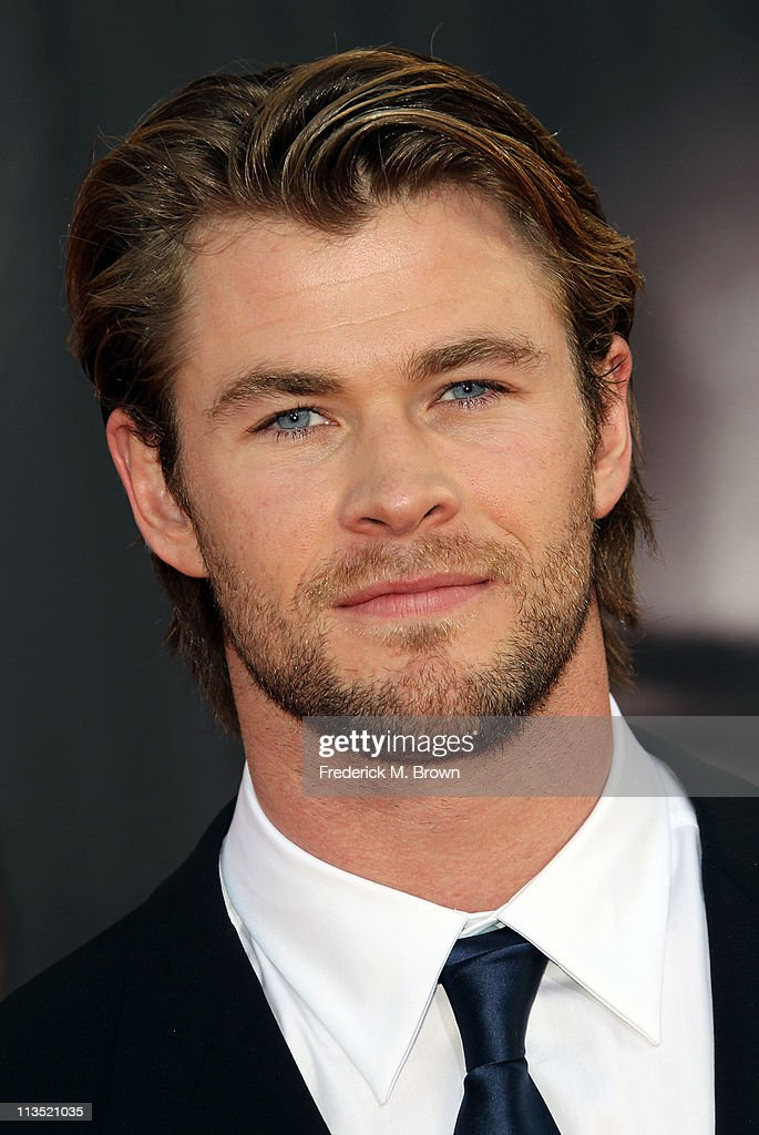 Actor <a gi-track='captionPersonalityLinkClicked' href=/galleries/search?phrase=Chris+Hemsworth&family=editorial&specificpeople=646776 ng-click='$event.stopPropagation()'>Chris Hemsworth</a> attends the Premiere of Paramount Pictures' and Marvel's 'Thor' at the El Capitan Theater on May 2, 2011 in Los Angeles, California.