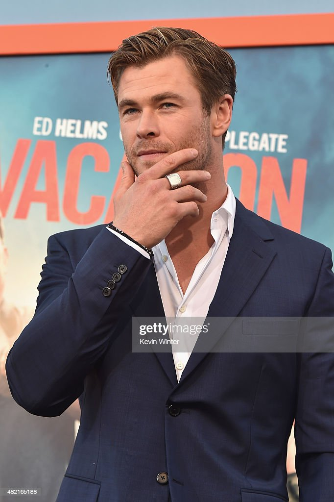 Actor Chris Hemsworth attends the premiere of Warner Bros Pictures 'Vacation' at Regency Village Theatre on July 27 2015 in Westwood California