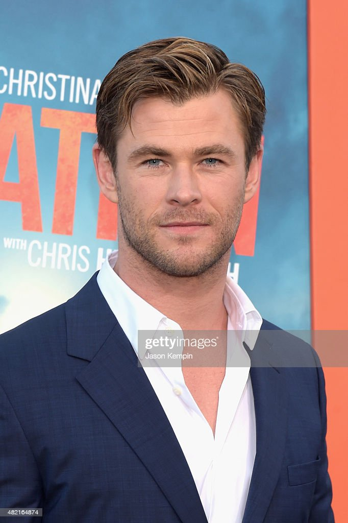 Actor <a gi-track='captionPersonalityLinkClicked' href=/galleries/search?phrase=Chris+Hemsworth&family=editorial&specificpeople=646776 ng-click='$event.stopPropagation()'>Chris Hemsworth</a> attends the premiere of Warner Bros. 'Vacation' at Regency Village Theatre on July 27, 2015 in Westwood, California.