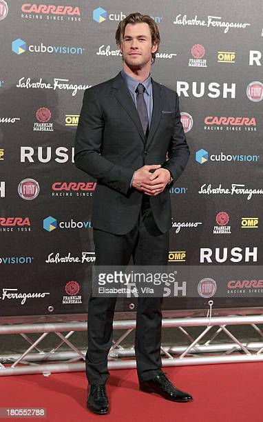 Actor Chris Hemsworth attends the 'Rush' premiere at Auditorium della Conciliazione on September 14 2013 in Rome Italy