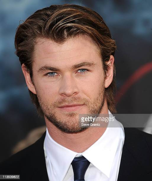 Actor Chris Hemsworth attends the 'Thor' Los Angeles Premiere at the El Capitan Theatre on May 2 2011 in Hollywood California