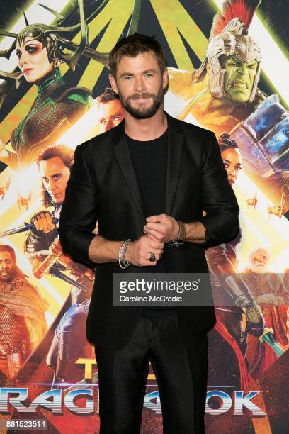 Actor Chris Hemsworth attends the THOR RAGNAROK Sydney special event screening at Hoyts Entertainment Quarter Sydney Australia on October 15 2017 in...