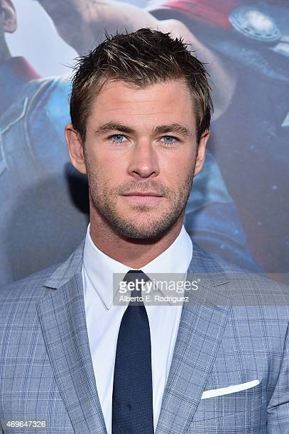 Actor Chris Hemsworth attends the world premiere of Marvel's 'Avengers Age Of Ultron' at the Dolby Theatre on April 13 2015 in Hollywood California