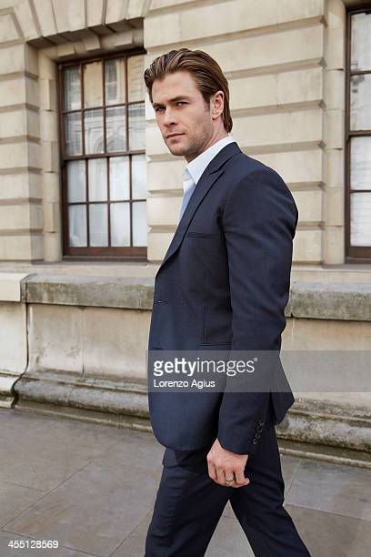 Actor Chris Hemsworth is photographed for The Hollywood Reporter on July 24 2013 in London England