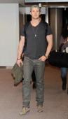 Actor Chris Hemsworth is seen upon arrival at Narita International Airport on January 25 2014 in Narita Japan