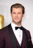 Actor Chris Hemsworth poses in the press room during the Oscars at Loews Hollywood Hotel on March 2 2014 in Hollywood California