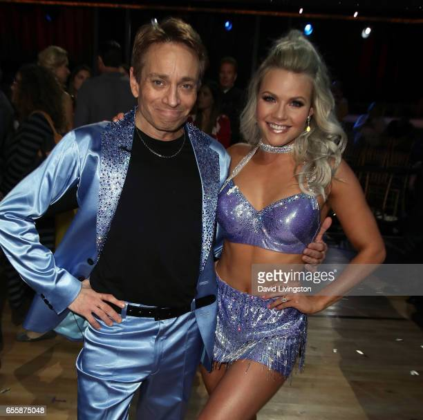 Actor Chris Kattan and dancer Witney Carson attend 'Dancing with the Stars' Season 24 premiere at CBS Televison City on March 20 2017 in Los Angeles...