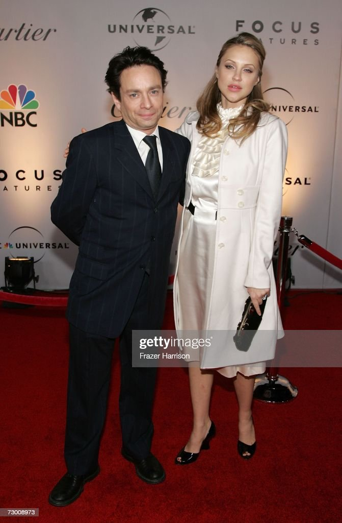 Actor Chris Kattan (L) and guest Sunshine Deia Tutt arrive at the NBC/Universal Golden Globe After Party held at the Beverly Hilton on January 15, 2007 in Beverly Hills, California.