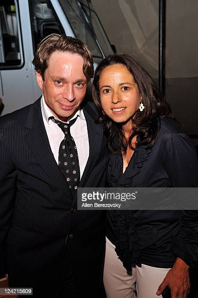 Actor Chris Kattan and producer Julie Snyder attend the 'Tanner Hall' Los Angeles Premiere afterparty at the Vista Theatre on September 6 2011 in Los...