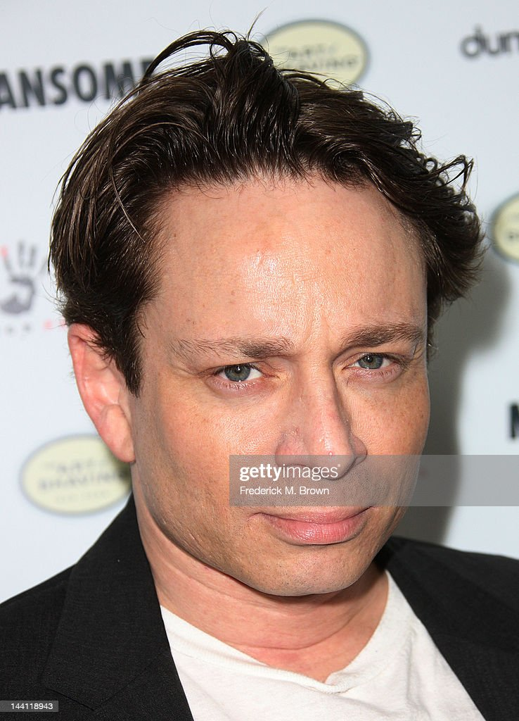 Actor <a gi-track='captionPersonalityLinkClicked' href=/galleries/search?phrase=Chris+Kattan&family=editorial&specificpeople=217709 ng-click='$event.stopPropagation()'>Chris Kattan</a> attends the premiere of Morgan Spurlock's 'Mansome' at the ArcLight Cinemas on May 9, 2012 in Hollywood, California.
