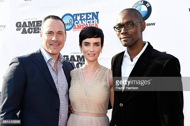 Actor Chris Klein actress Victoria Summer Lawrence Charles Founder Charles and Co Organic Tea Company attend Tea With Victoria Summer at British...