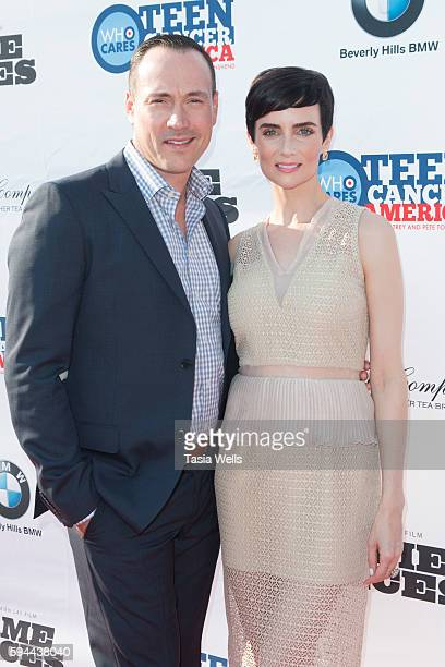 Actor Chris Klein and actress and star of 'Game of Aces' Victoria Summer attends Tea with Victoria Summer Benefit for Teenagers with Cancer at The...