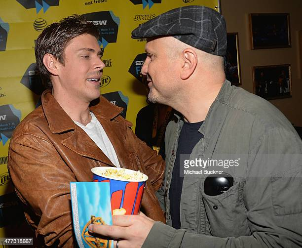 Actor Chris Lowell and actor Enrico Colantoni arrives at the premiere of 'Veronica Mars' during the 2014 SXSW Music Film Interactive Festival at the...