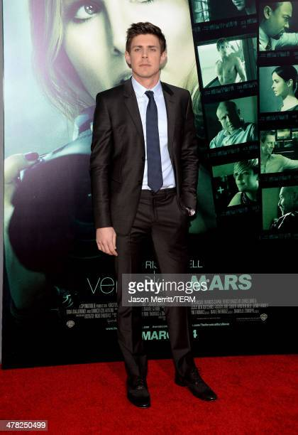 Actor Chris Lowell arrives at the Los Angeles premiere of 'Veronica Mars' at TCL Chinese Theatre on March 12 2014 in Hollywood California