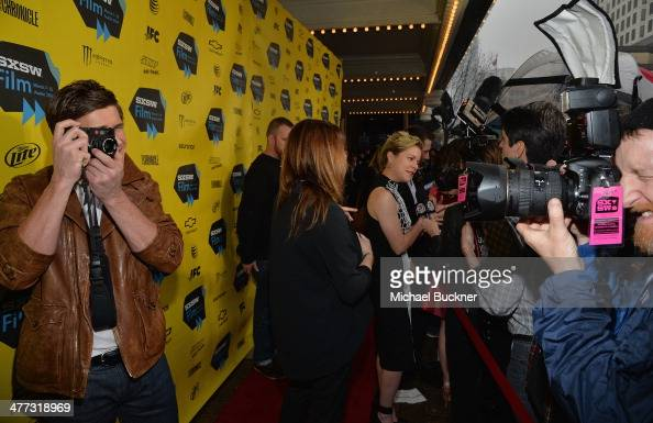 Actor Chris Lowell arrives at the premiere of 'Veronica Mars' during the 2014 SXSW Music Film Interactive Festival at the Paramount Theatre on March...