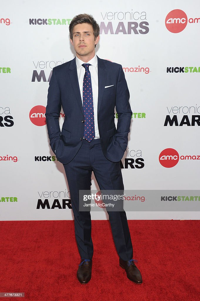 Actor <a gi-track='captionPersonalityLinkClicked' href=/galleries/search?phrase=Chris+Lowell&family=editorial&specificpeople=880311 ng-click='$event.stopPropagation()'>Chris Lowell</a> attends the 'Veronica Mars' screening at AMC Loews Lincoln Square on March 10, 2014 in New York City.