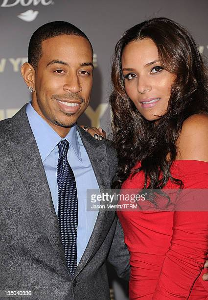 Actor Chris 'Ludacris' Bridges and Eudoxie arrive at the premiere of Warner Bros Pictures' 'New Year's Eve' at Grauman's Chinese Theatre on December...