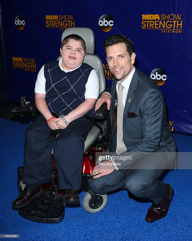 Actor Chris Mann attends the Muscular Dystrophy Association's 48th annual MDA Show Of Strength telethon day 2 at CBS Studios on August 1, 2013 in Los Angeles, California.