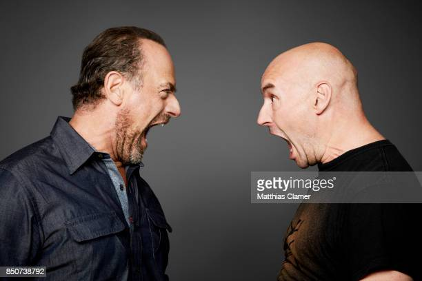 Actor Chris Meloni and writer Grant Morrison from Happy are photographed for Entertainment Weekly Magazine on July 21 2017 at Comic Con in San Diego...
