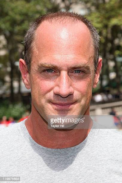 Actor Chris Meloni attends Madden NFL 12 Pigskin ProAm in Bryant Park on July 27 2011 in New York City