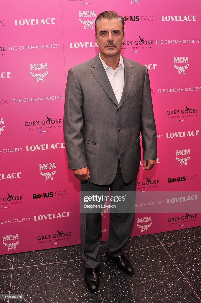 Actor Chris Noth attends The Cinema Society and MCM with Grey Goose screening of Radius TWC's 'Lovelace' at MoMA on July 30, 2013 in New York City.