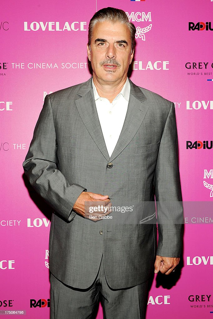 Actor Chris Noth attends The Cinema Society and MCM with Grey Goose host a screening of Radius TWC's 'Lovelace' at The Museum of Modern Art on July 30, 2013 in New York City.