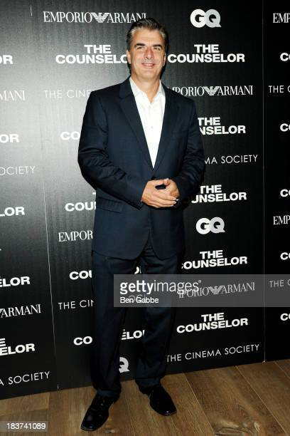 Actor Chris Noth attends the Emporio Armani with GQ The Cinema Society screening of 'The Counselor' at the Crosby Street Hotel on October 9 2013 in...