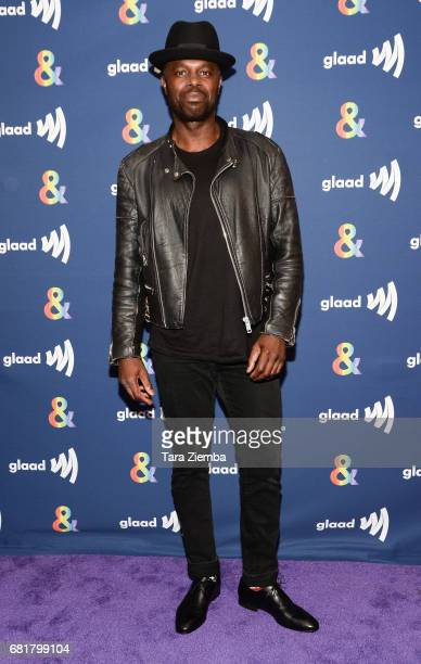 Actor Chris Obi arrives at the 'American Gods' advance screening In Partnership with GLAAD at The Paley Center for Media on May 10 2017 in Beverly...