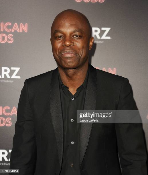 Actor Chris Obi attends the premiere of 'American Gods' at ArcLight Cinemas Cinerama Dome on April 20 2017 in Hollywood California