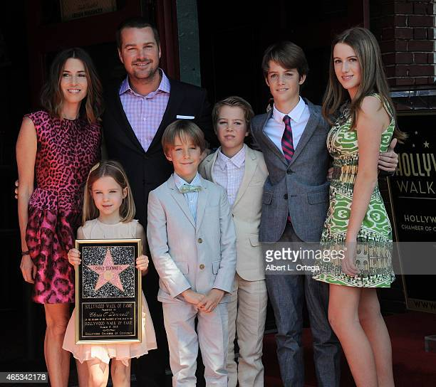 Actor Chris O'Donnell and family at the Chris O'Donnell Star Ceremony On The Hollywood Walk Of Fame on March 5 2015 in Hollywood California