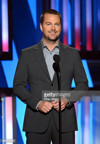 Actor Chris O'Donnell speaks onstage during ACM Presents An AllStar Salute To The Troops at the MGM Grand Garden Arena on April 7 2014 in Las Vegas...