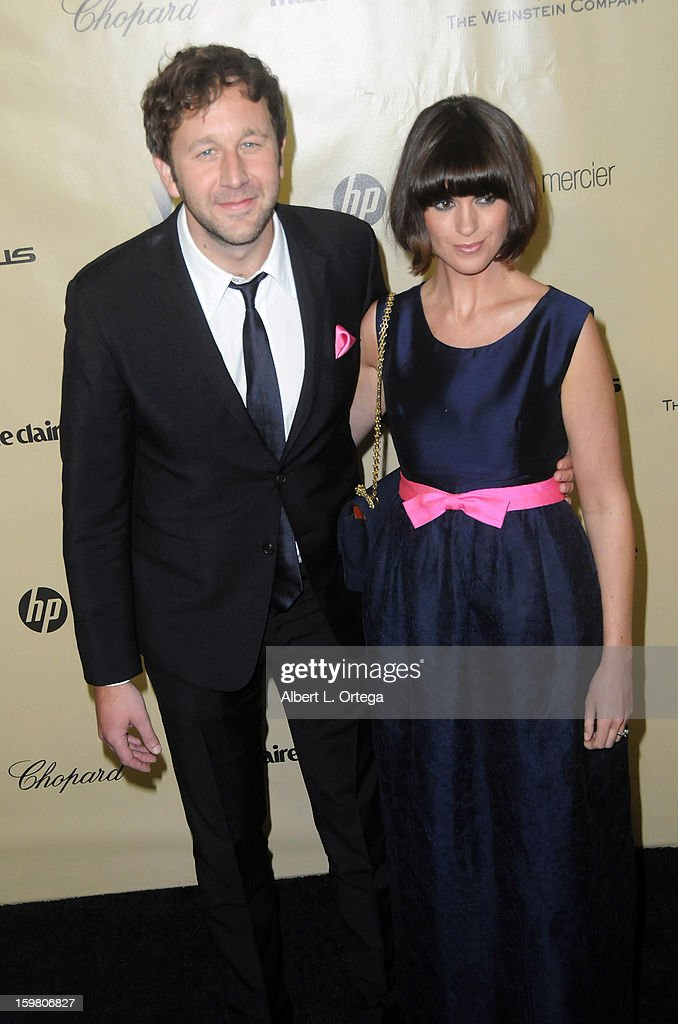 Actor Chris O'Dowd and actress Dawn Porter arrive for the Weinstein Company's 2013 Golden Globe Awards After Party - Arrivals on January 13, 2013 in Beverly Hills, California.