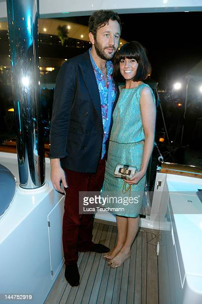 Actor Chris O'Dowd and Dawn Porter attend Cannes Cocktail Evening hosted by Eva Longoria and Denise Rich and produced by Total Management and MandA...
