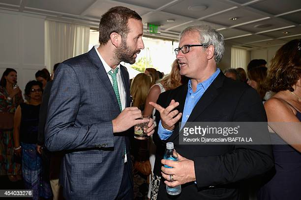 Actor Chris O'Dowd and director Simon Curtis attend the 2014 BAFTA Los Angeles TV Tea presented By BBC America And Jaguar at SLS Hotel on August 23...