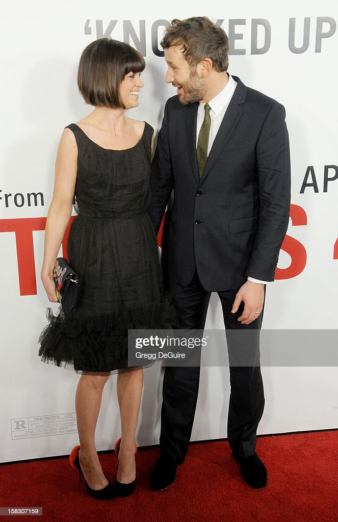 Actor Chris O'Dowd (R) and wife Dawn Porter arrive at the Los Angeles premiere of 'This Is 40' at Grauman's Chinese Theatre on December 12, 2012 in Hollywood, California.