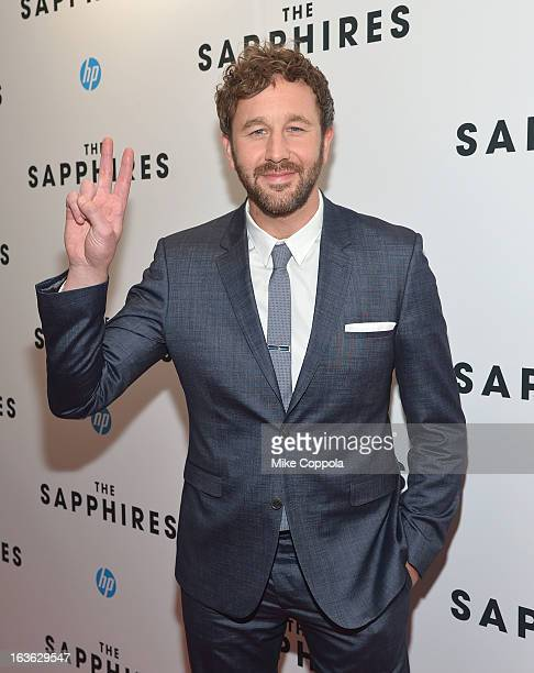 Actor Chris O'Dowd and wife Dawn Porter attend 'The Sapphires' screening at The Paris Theatre on March 13 2013 in New York City