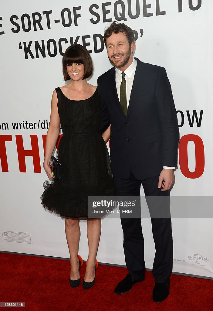 Actor <a gi-track='captionPersonalityLinkClicked' href=/galleries/search?phrase=Chris+O%27Dowd&family=editorial&specificpeople=814031 ng-click='$event.stopPropagation()'>Chris O'Dowd</a> (right) and wife Dawn Porter attends the premiere Of Universal Pictures' 'This Is 40' at Grauman's Chinese Theatre on December 12, 2012 in Hollywood, California.