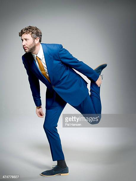 Actor Chris O'Dowd is photographed for the Sunday Times magazine on March 7 2013 in London England