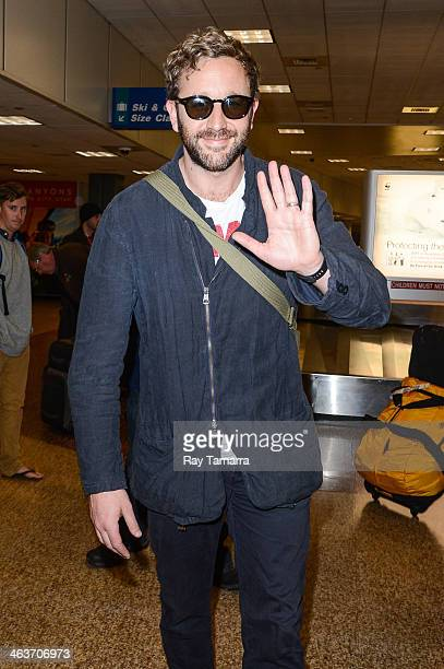 Actor Chris O'Dowd leaves the Salt Lake City Airport on January 18 2014 in Salt Lake City Utah