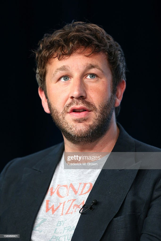 Actor Chris O'Dowd speaks onstage during the 'Family Tree' panel discussion at the HBO portion of the 2013 Winter TCA Tourduring 2013 Winter TCA Tour - Day 1 at Langham Hotel on January 4, 2013 in Pasadena, California.