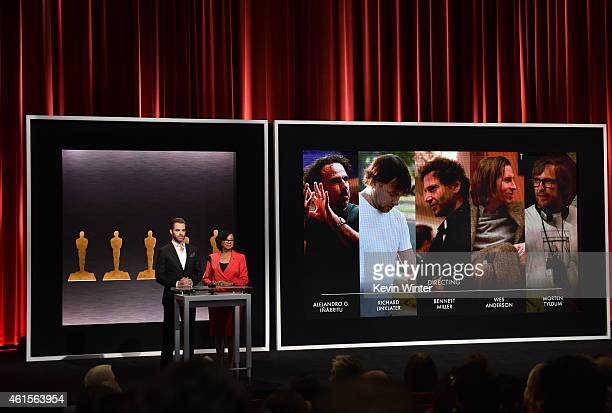 Actor Chris Pine and Academy President Cheryl Boone Isaacs announce the nominees for Best Director at the 87th Academy Awards Nominations...