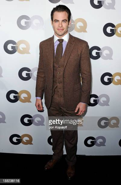 Actor Chris Pine arrives at the 16th Annual GQ 'Men Of The Year' Celebration at Chateau Marmont on November 17 2011 in Los Angeles California
