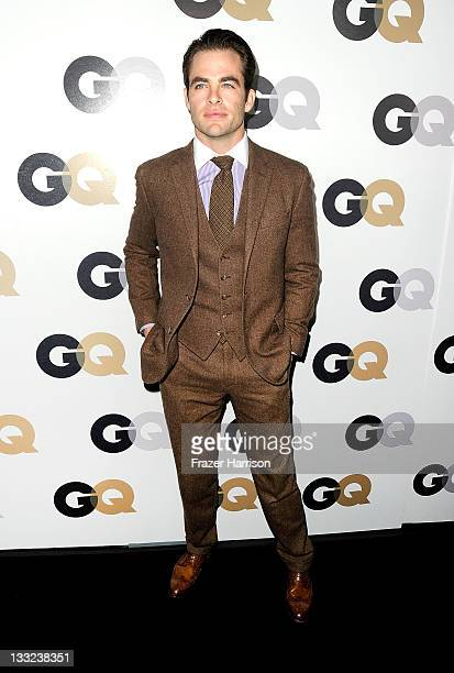 Actor Chris Pine arrives at the 16th Annual GQ 'Men Of The Year' Party at Chateau Marmont on November 17 2011 in Los Angeles California